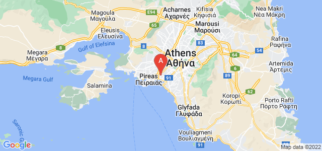 map of Moschato, Greece