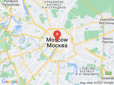 map of Moscow, Russia