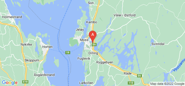 map of Moss, Norway