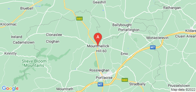 map of Mountmellick, Republic of Ireland