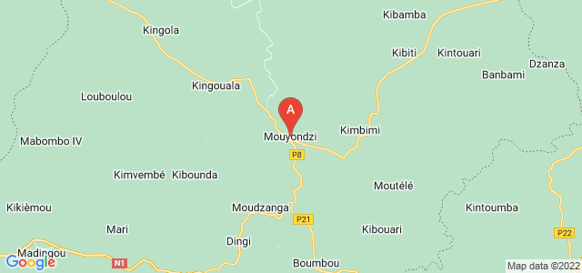 map of Mouyondzi, Republic of the Congo