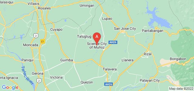map of Muñoz, Philippines