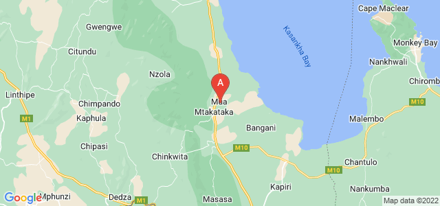 map of Mua, Malawi