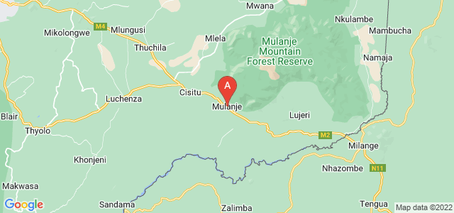 map of Mulanje, Malawi