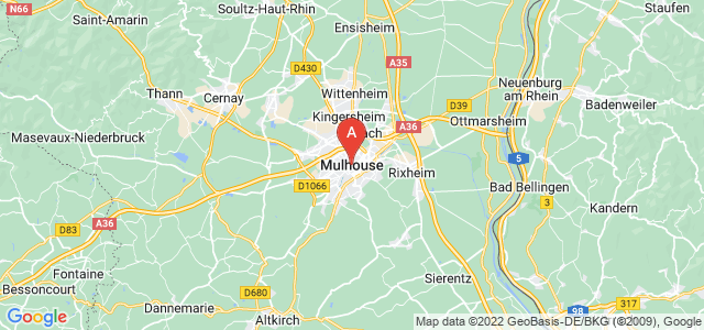 map of Mulhouse, France