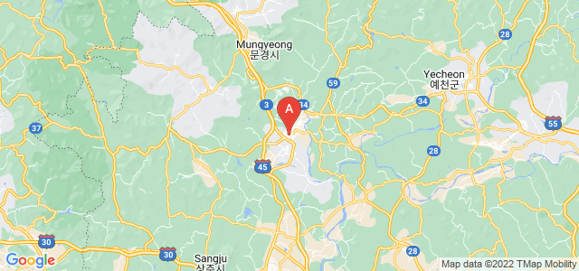 map of Mungyeong, South Korea