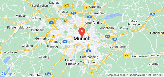 map of Munich, Germany