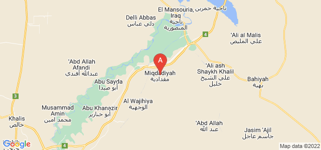 map of Muqdadiyah, Iraq