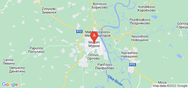 map of Murom, Russia