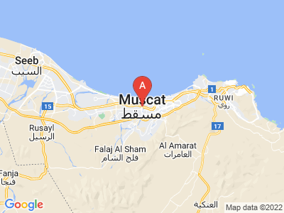 map of Muscat, Oman