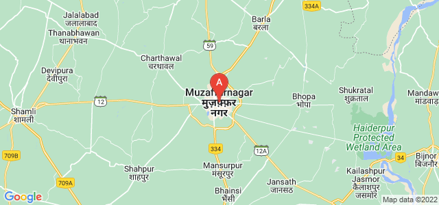 map of Muzaffarnagar, India