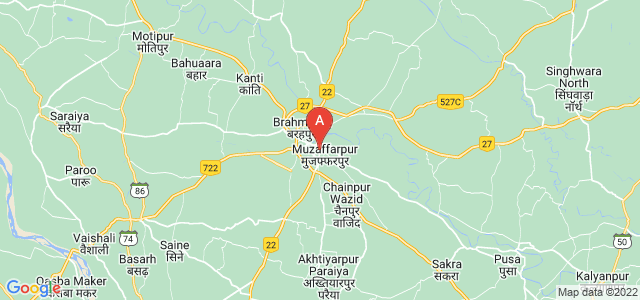 map of Muzaffarpur, India