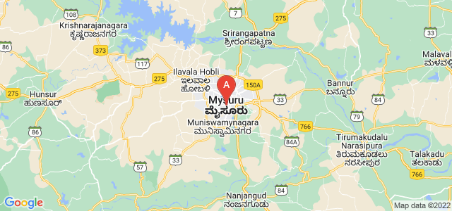 map of Mysore, India