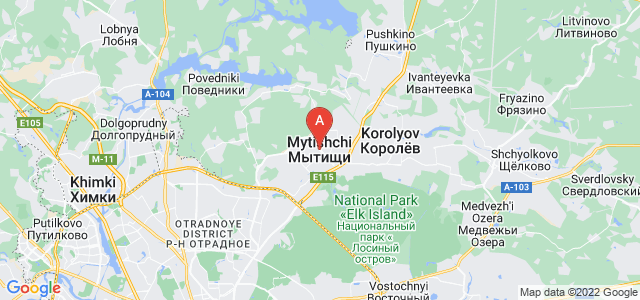 map of Mytishchi, Russia