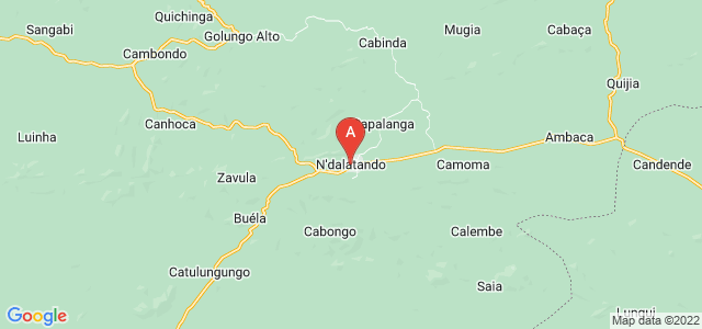 map of N'dalatando, Angola