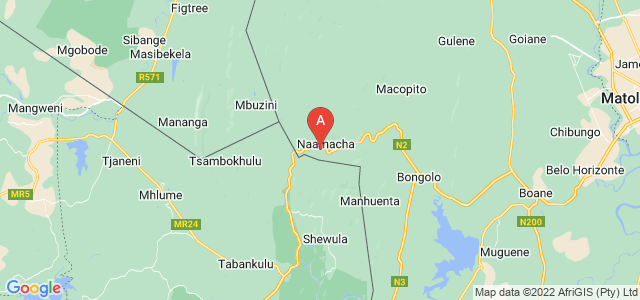 map of Naamcha, Mozambique