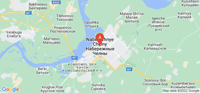 map of Naberezhnye Chelny, Russia