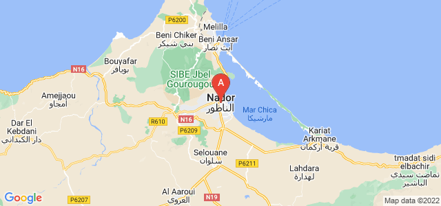 map of Nador, Morocco