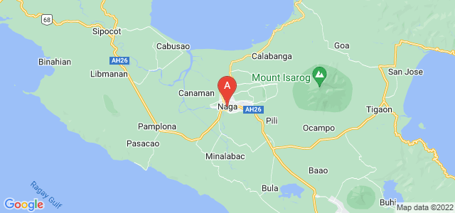 map of Naga, Philippines