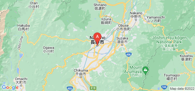 map of Nagano, Japan