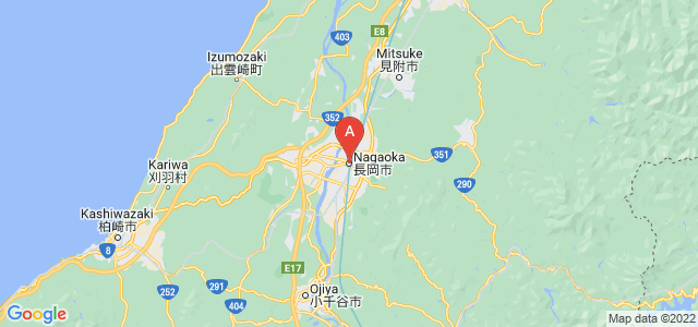 map of Nagaoka, Japan