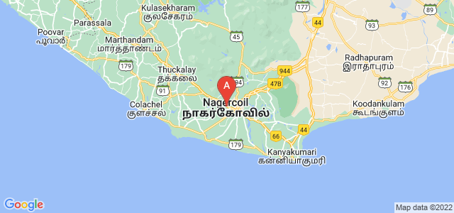 map of Nagercoil, India