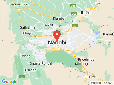 map of Nairobi, Kenya