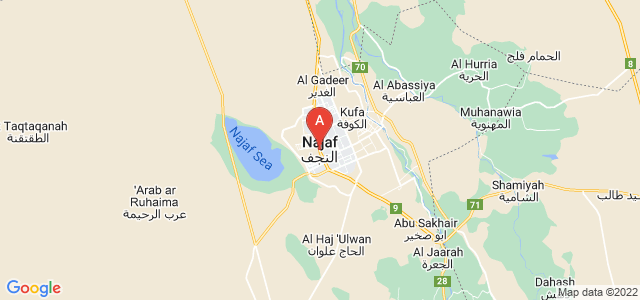 map of Najaf, Iraq