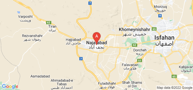 map of Najafabad, Iran