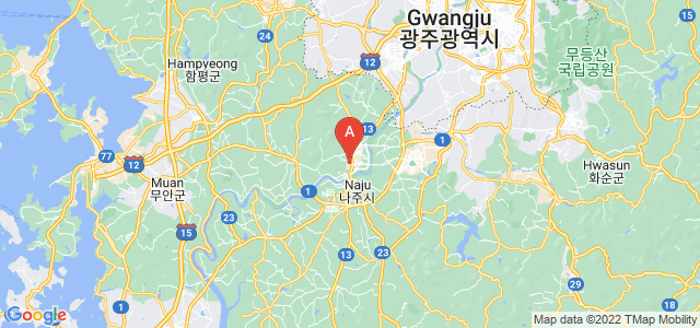 map of Naju, South Korea