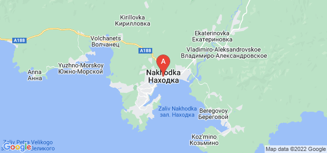 map of Nakhodka, Russia