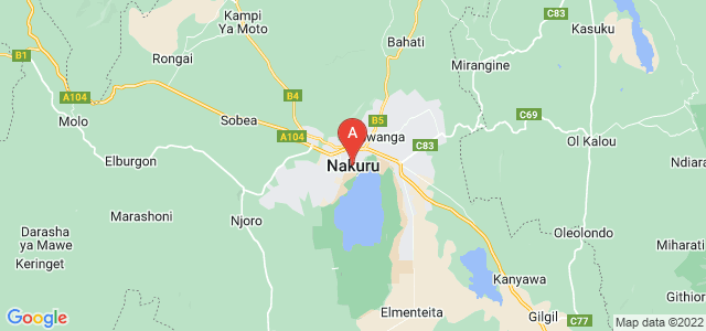 map of Nakuru, Kenya