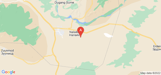 map of Nalaikh, Mongolia