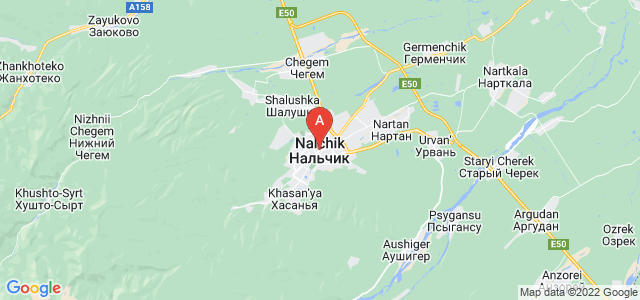 map of Nalchik, Russia