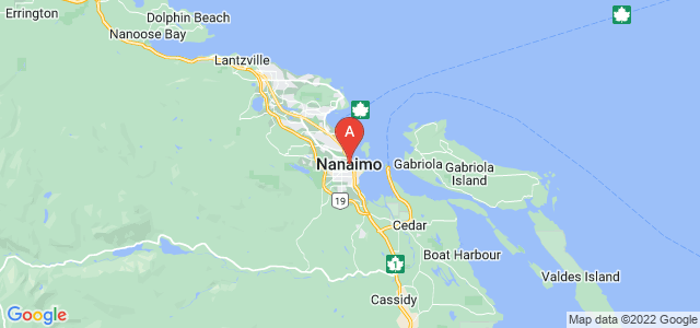 map of Nanaimo, Canada