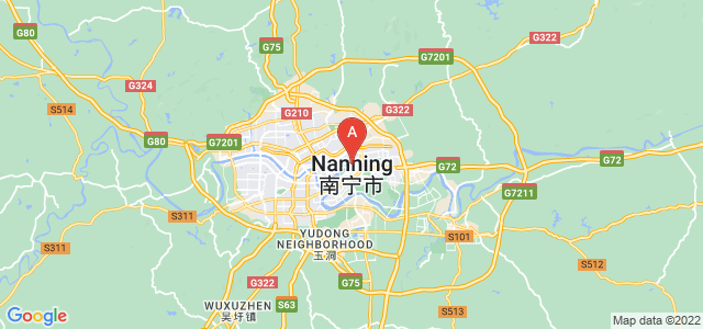 map of Nanning, China