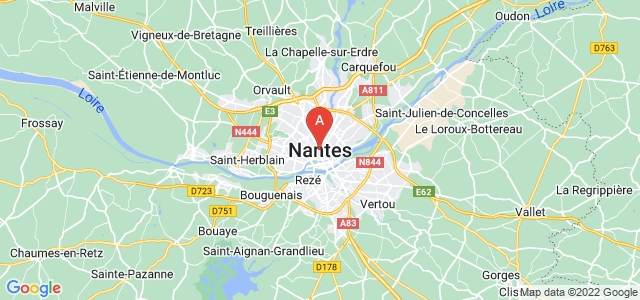 map of Nantes, France