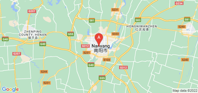 map of Nanyang, China