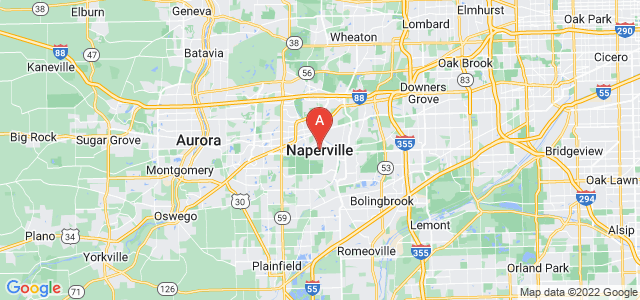 map of Naperville, United States of America