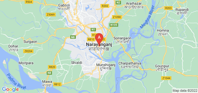 map of Narayanganj, Bangladesh