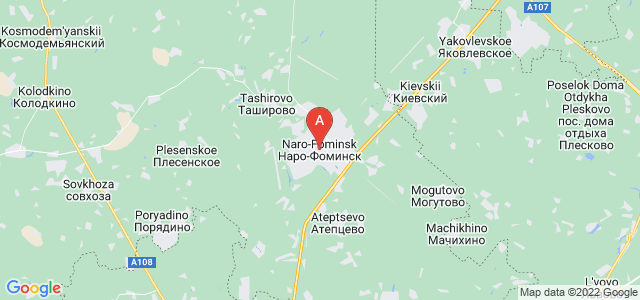 map of Naro-Fominsk, Russia