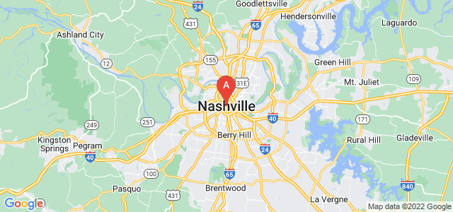 map of Nashville, United States of America