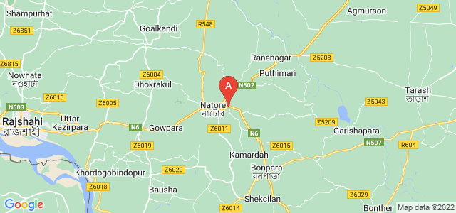 map of Natore, Bangladesh