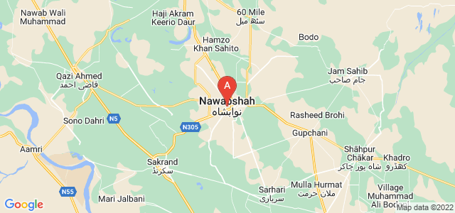 map of Nawabshah, Pakistan
