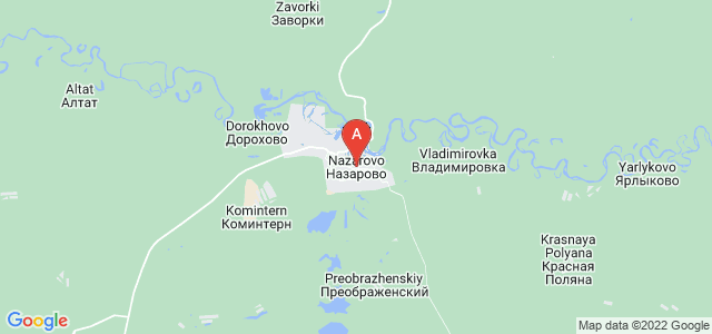 map of Nazarovo, Russia