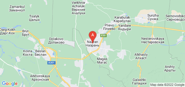 map of Nazran, Russia