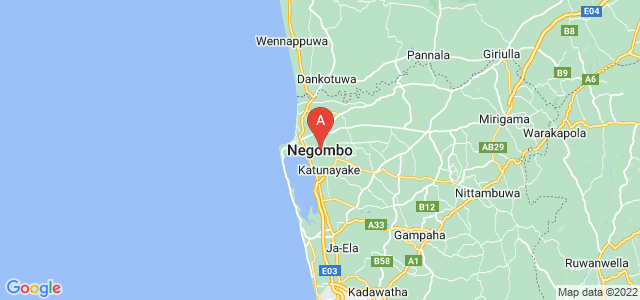 map of Negombo, Sri Lanka