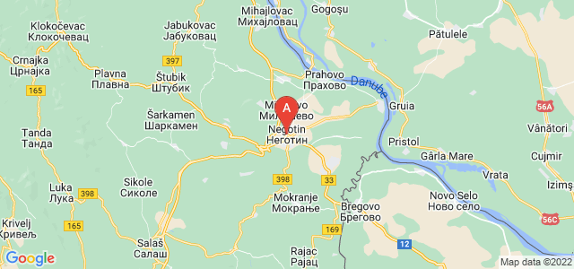 map of Negotin, Serbia