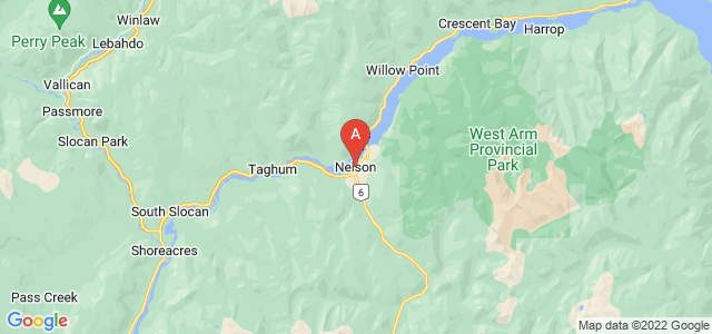 map of Nelson, Canada