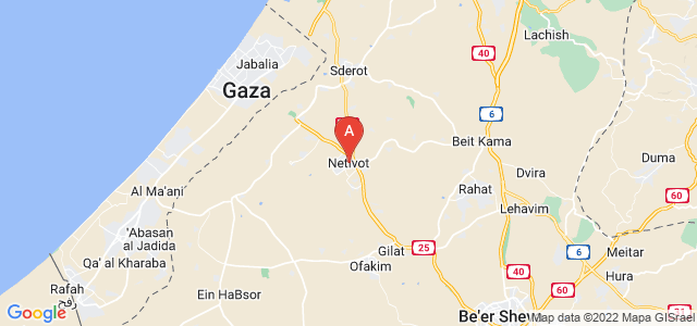 map of Netivot, Israel
